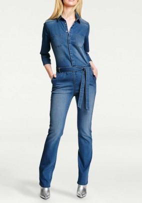 Mėlynas džinsinis kombinezonas