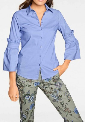 Stilingi mėlyni marškiniai