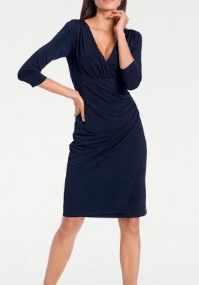 Wrap dress, navy