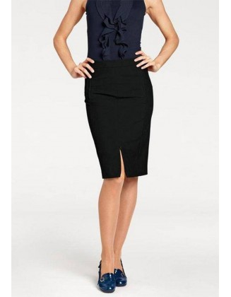Juodas verslo klasės sijonas