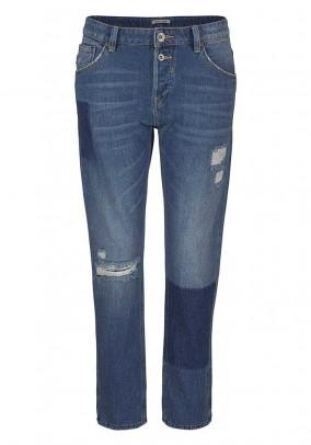 Women's boyfriend style jeans, blue used, 32inch