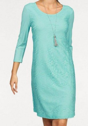 Lace dress, mint