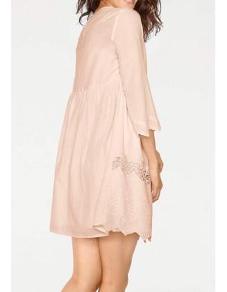 Pudros spalvos romantiška suknelė