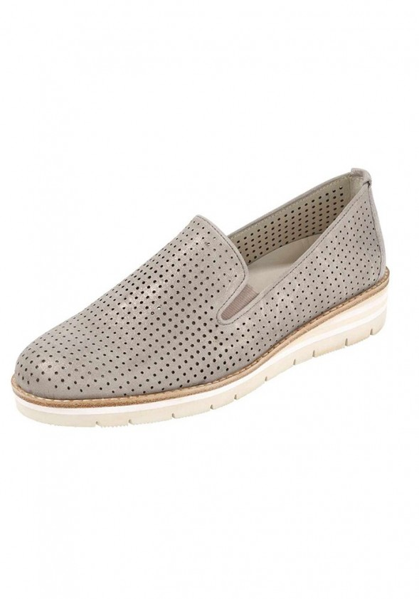 Women's slipper, powder-metalic