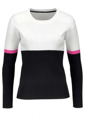Sweatshirt, black-white