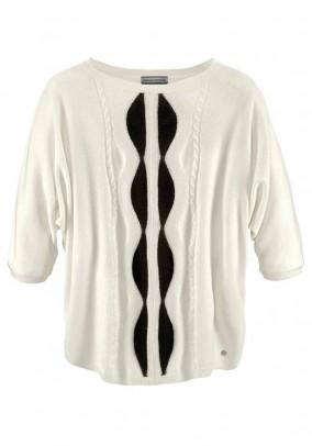 Poncho sweatshirt, offwhite