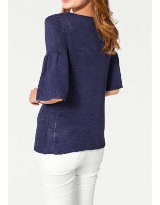 "Mėlynas megztinis ""Flora"""
