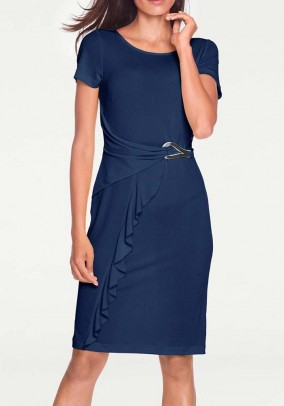 Wrap dress, navy