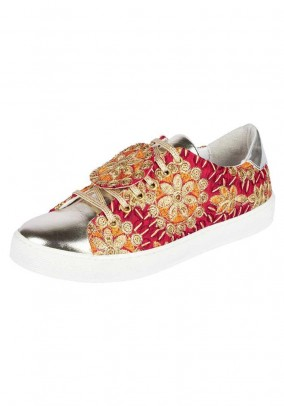 Sneaker, red-gold coloured