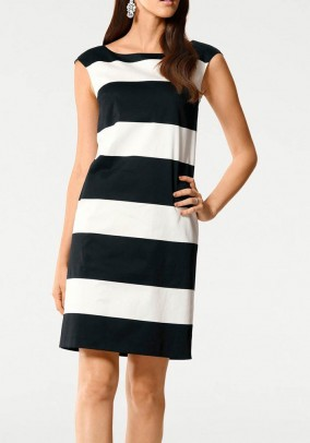 Sheath dress, black-white