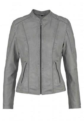 Leather jacket, used grey