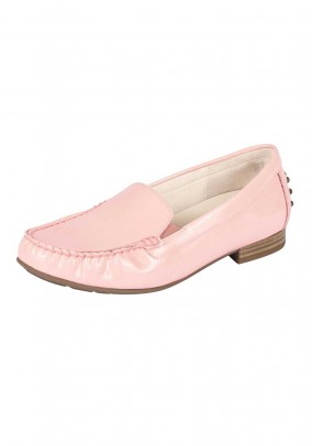 Branded ladies patent leather slipper