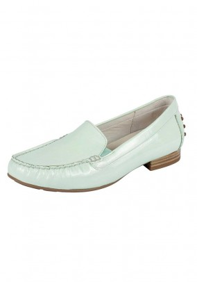 Women's patent leather slipper, mint