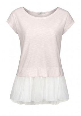 Silk jersey shirt, cream