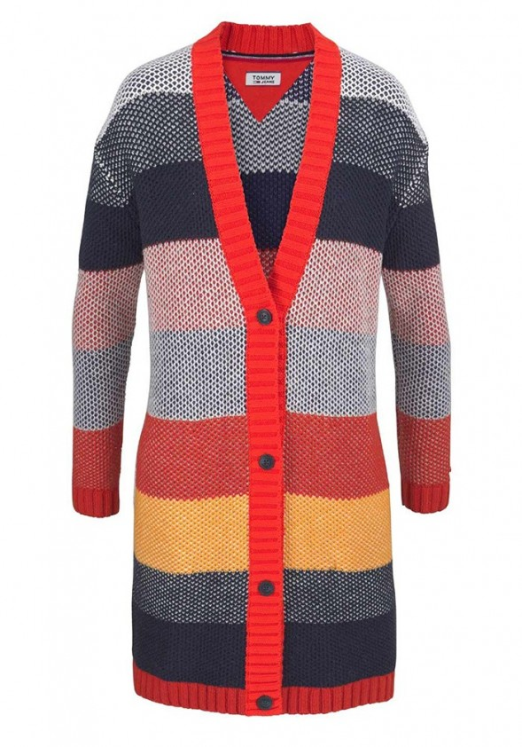 TOMMY HILFIGER ilgas dryžuotas megztinis