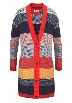 Knit cardigan, multicolour