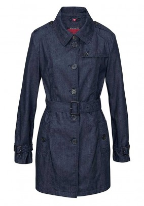 Denim trenchcoat, dark blue