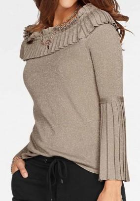 MONARI smėlinis megztinis