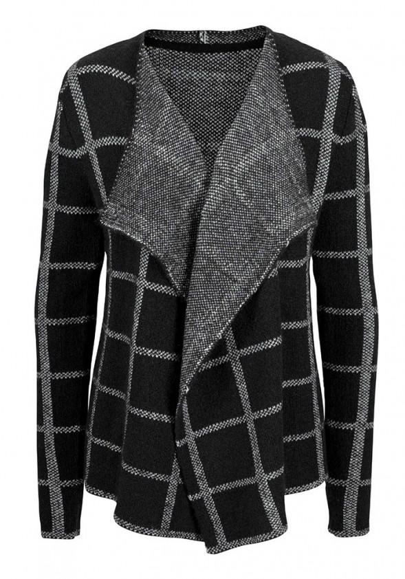 Cardigan, black-grey