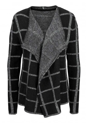 Cardigan, black-grey