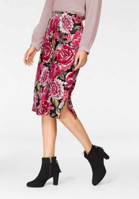 Satin skirt, multicolour