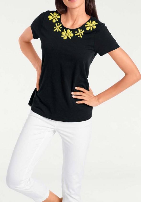 Shirt, black-yellow