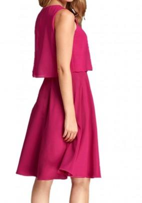 Chiffon dress, fuchsia