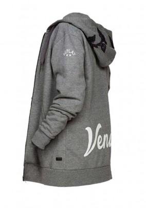 Sweat jacket, blended grey