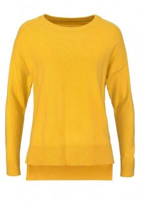 Fine knit sweater, yellow