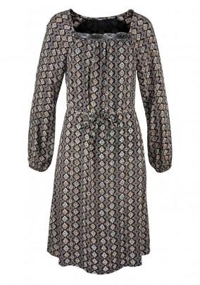 Vintažinio rašto suknelė