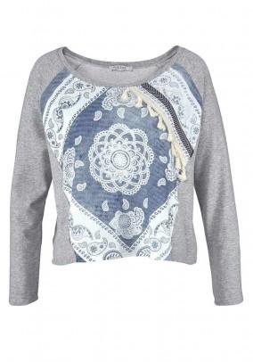 Sweatshirt, grey-blue
