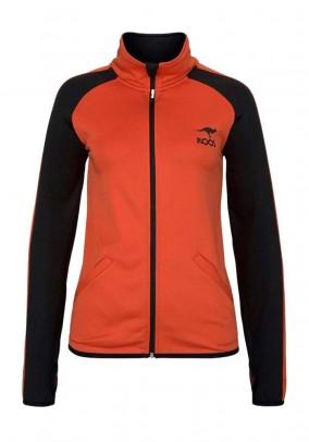Brand sweat jacket, black-orange