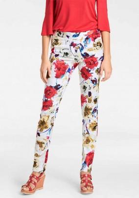 Print trousers, multicolour