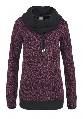 Sweatshirt, black-pink