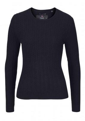 Mėlynas vilnos ir kašmyro megztinis