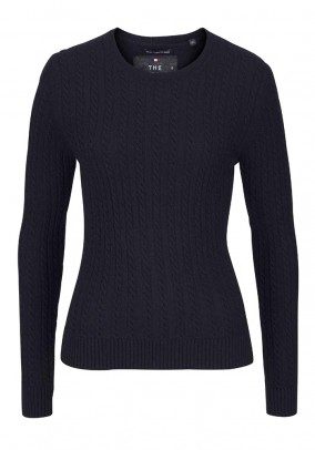 Sweatshirt with cashmere, navy