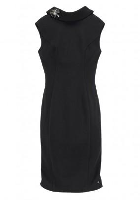 Collar dress, black