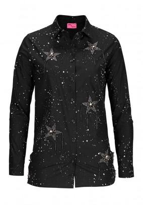 Shirt blouse, black
