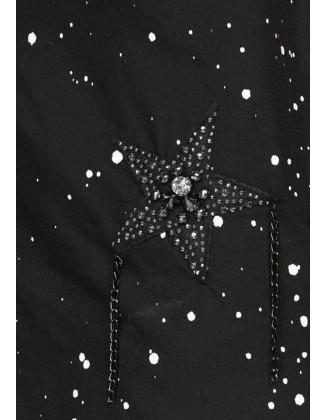 """Juodi dekoruoti marškiniai """"Star"""""""