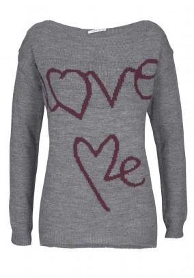Fine knit shirt, grey