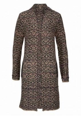 Ilgas rudas megztinis - paltukas
