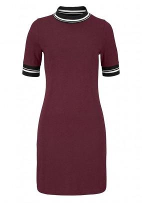 Jersey dress, wine red