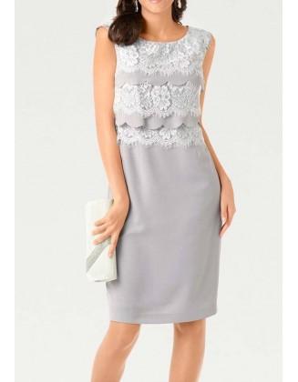 """Pilka suknelė su nėriniais """"Beauty"""""""