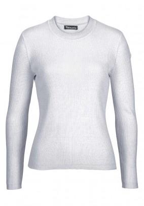 Ribknit sweatshirt, silver grey