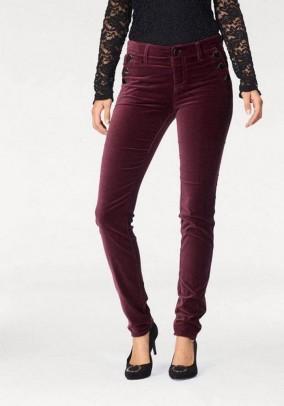 Velvet trousers, bordeaux