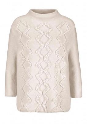 Wool sweatshirt, beige