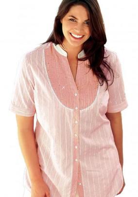 Rausvi romantiški marškiniai