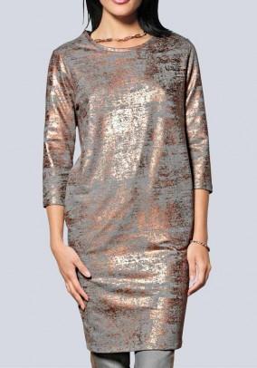 Designer dress, gray-rose gold