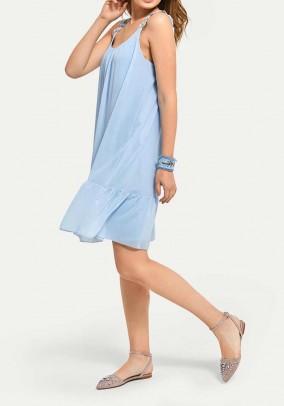 Šviesiai mėlyna vasarinė suknelė