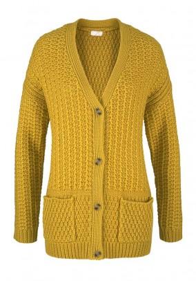 Garstyčių spalvos megztinis